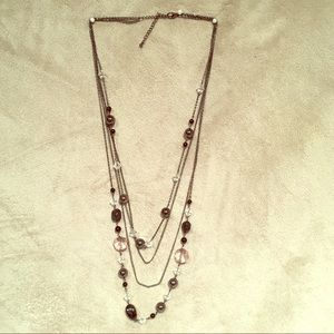 Jewelry - Black, silver, beaded necklace